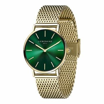 Liebeskind Berlin Damen Analog Quarz Armbanduhr mit Edelstahlarmband LT-0210-MQ - 2