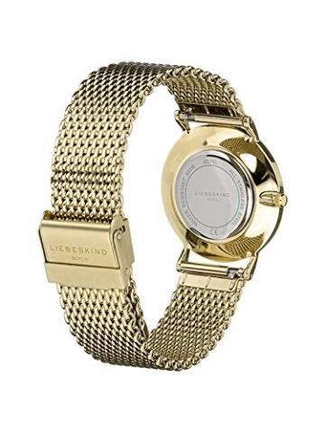 Liebeskind Berlin Damen Analog Quarz Armbanduhr mit Edelstahlarmband LT-0210-MQ - 3
