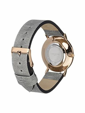 Liebeskind Berlin Damen Analog Quarz Armbanduhr mit Lederarmband LT-0094-LQ - 3