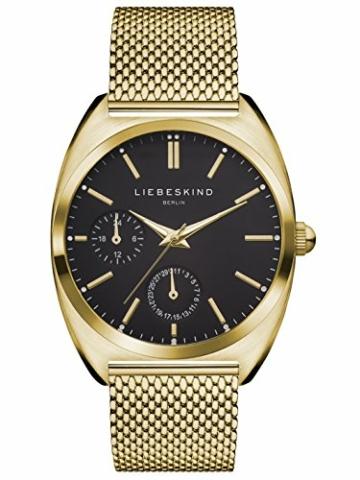 Liebeskind Berlin Damen Analog Quarz Uhr mit Edelstahl Armband - 1