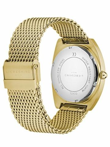 Liebeskind Berlin Damen Analog Quarz Uhr mit Edelstahl Armband - 2