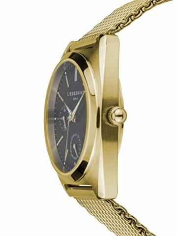 Liebeskind Berlin Damen Analog Quarz Uhr mit Edelstahl Armband - 3