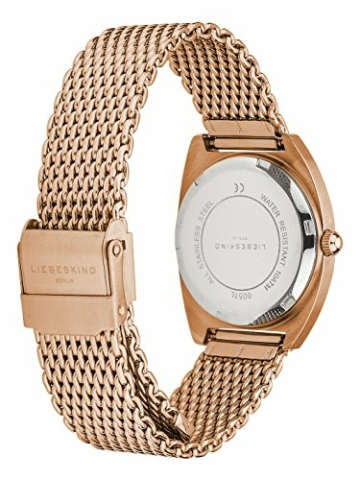 Liebeskind Berlin Damen Analog Quarz Uhr mit Edelstahl Armband LT-0051-MQ - 3