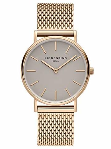 Liebeskind Berlin Damen Analog Quarz Uhr mit Edelstahl Armband LT-0169-MQ - 1
