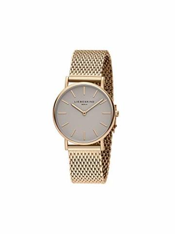 Liebeskind Berlin Damen Analog Quarz Uhr mit Edelstahl Armband LT-0169-MQ - 2