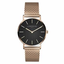 Liebeskind Berlin Damen Analog Quarz Uhr mit Edelstahl Armband LT-0200-MQ - 1