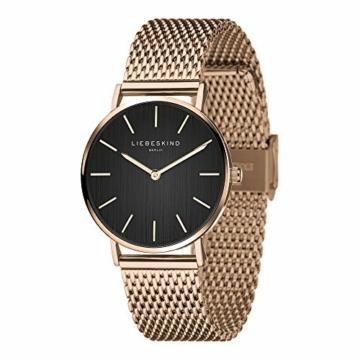 Liebeskind Berlin Damen Analog Quarz Uhr mit Edelstahl Armband LT-0200-MQ - 2