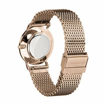 Liebeskind Berlin Damen Analog Quarz Uhr mit Edelstahl Armband LT-0200-MQ - 3
