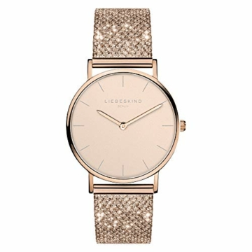 Liebeskind Berlin Damen Analog Quarz Uhr mit Edelstahl Armband LT-0219-MQ - 1
