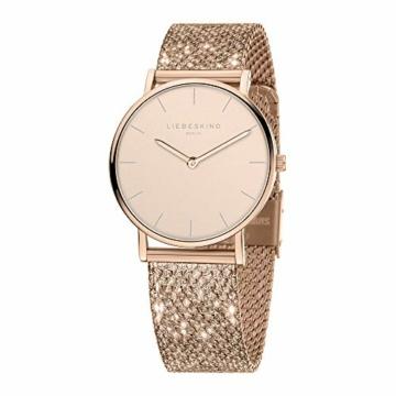 Liebeskind Berlin Damen Analog Quarz Uhr mit Edelstahl Armband LT-0219-MQ - 2