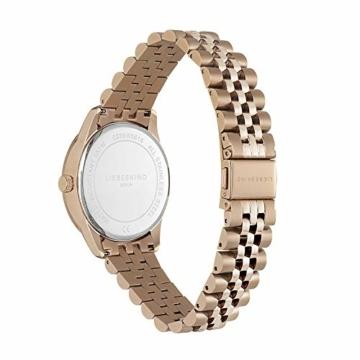 Liebeskind Berlin Damen Analog Quarz Uhr mit Edelstahl Armband LT-0239-MQ, IP roségold - 2