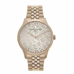 Liebeskind Berlin Damen Analog Quarz Uhr mit Edelstahl Armband LT-0239-MQ, IP roségold - 1