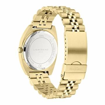 Liebeskind Berlin Damen Analog Quarz Uhr mit Edelstahl Armband LT-0260-MM - 3