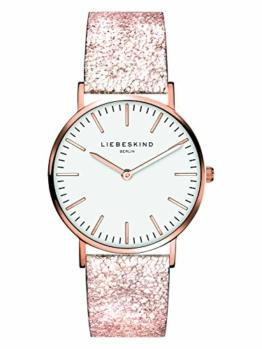Liebeskind Berlin Damen Analog Quarz Uhr mit Leder Armband - 1