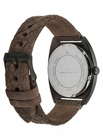 Liebeskind Berlin Damen Analog Quarz Uhr mit Leder Armband LT-0049-LQ - 2