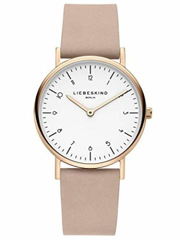 Liebeskind Berlin Damen Analog Quarz Uhr mit Leder Armband LT-0166-LQ - 1