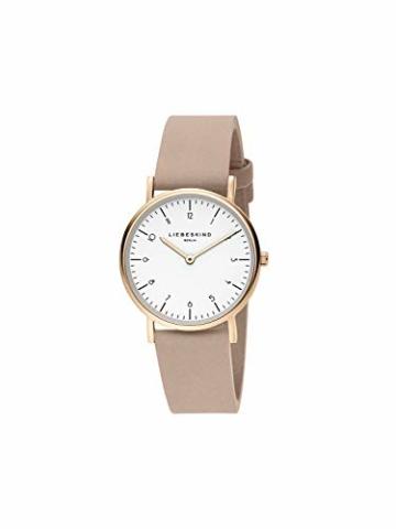Liebeskind Berlin Damen Analog Quarz Uhr mit Leder Armband LT-0166-LQ - 2