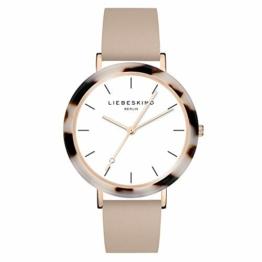 Liebeskind Berlin Damen Analog Quarz Uhr mit Leder Armband LT-0184-LQ - 1