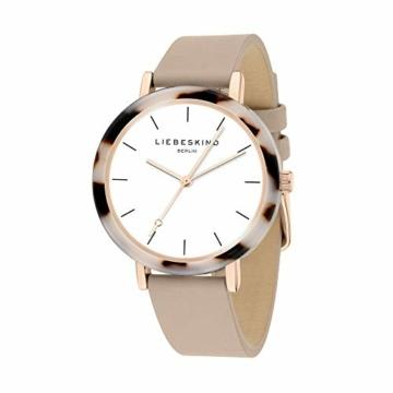 Liebeskind Berlin Damen Analog Quarz Uhr mit Leder Armband LT-0184-LQ - 2