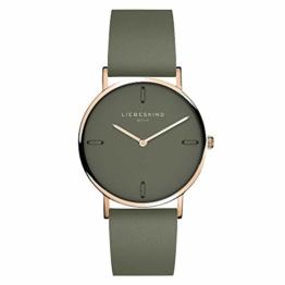 Liebeskind Berlin Damen Analog Quarz Uhr mit Leder Armband LT-0204-LQ - 1