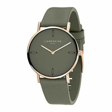 Liebeskind Berlin Damen Analog Quarz Uhr mit Leder Armband LT-0204-LQ - 2