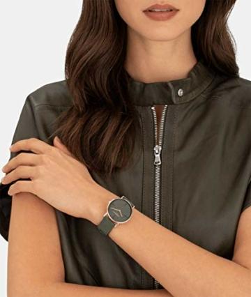 Liebeskind Berlin Damen Analog Quarz Uhr mit Leder Armband LT-0204-LQ - 6