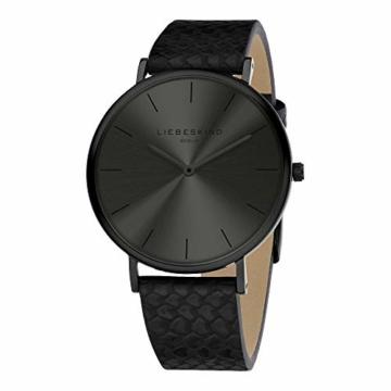 Liebeskind Berlin Damen Analog Quarz Uhr mit Sneakoptik Armband - 2