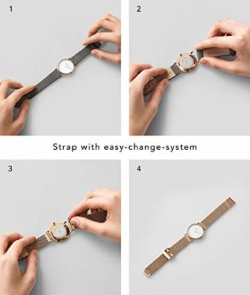 Liebeskind Berlin Damen Analog Quarz Uhr mit Sneakoptik Armband - 7