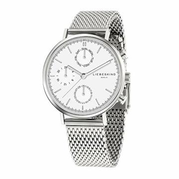 Liebeskind Berlin Damen Multi Zifferblatt Quarz Uhr mit Edelstahl Armband LT-0191-MM - 2