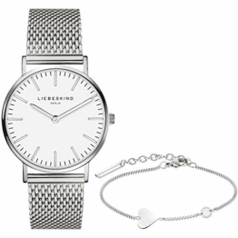 Liebeskind Berlin Set Armbanduhr und Armband (Silber) - 1