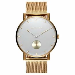 Meller Unisex Erwachsene Analog Quarz Uhr mit Edelstahl Armband 2OB-2GOLD - 1