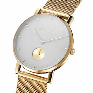 Meller Unisex Erwachsene Analog Quarz Uhr mit Edelstahl Armband 2OB-2GOLD - 2