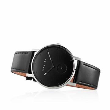 Meller Unisex Erwachsene Analog Quarz Uhr mit Edelstahl Armband 2S-1BLACK - 3