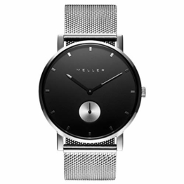 Meller Unisex Erwachsene Analog Quarz Uhr mit Edelstahl Armband 2S-2SILVER - 1