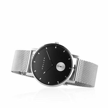 Meller Unisex Erwachsene Analog Quarz Uhr mit Edelstahl Armband 2S-2SILVER - 3