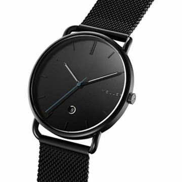 Meller Unisex Erwachsene Analog Quarz Uhr mit Edelstahl Armband 3N-2BLACK - 2