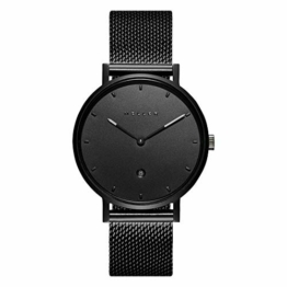Meller Unisex Erwachsene Analog Quarz Uhr mit Edelstahl Armband W1N-2BLACK - 1