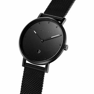 Meller Unisex Erwachsene Analog Quarz Uhr mit Edelstahl Armband W1N-2BLACK - 2