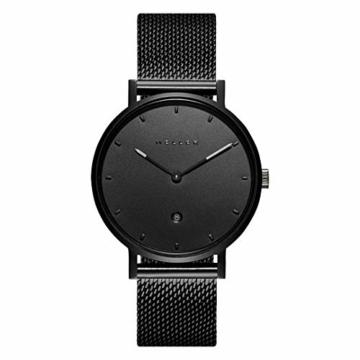 Meller Unisex Erwachsene Analog Quarz Uhr mit Edelstahl Armband W1N-2BLACK - 3
