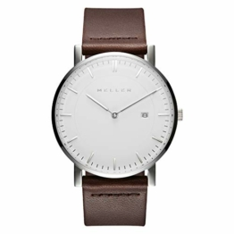 Meller Unisex Erwachsene Analog Quarz Uhr mit Leder Armband 1B-1BROWN1 - 1