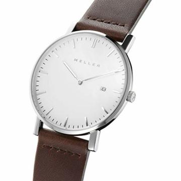 Meller Unisex Erwachsene Analog Quarz Uhr mit Leder Armband 1B-1BROWN1 - 2