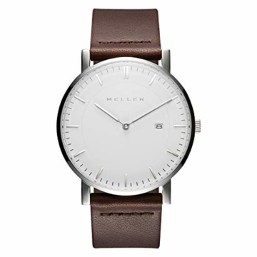 Meller Unisex Erwachsene Analog Quarz Uhr mit Leder Armband 1B-1BROWN1 - 3