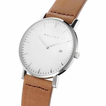 Meller Unisex Erwachsene Analog Quarz Uhr mit Leder Armband 1B-1CAMEL1 - 2