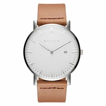Meller Unisex Erwachsene Analog Quarz Uhr mit Leder Armband 1B-1CAMEL1 - 3