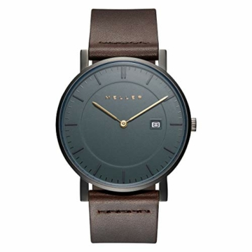 Meller Unisex Erwachsene Analog Quarz Uhr mit Leder Armband 1G-1BROWN - 1