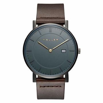 Meller Unisex Erwachsene Analog Quarz Uhr mit Leder Armband 1G-1BROWN - 3