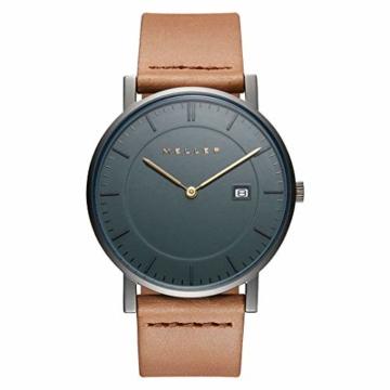 Meller Unisex Erwachsene Analog Quarz Uhr mit Leder Armband 1G-1CAMEL - 1