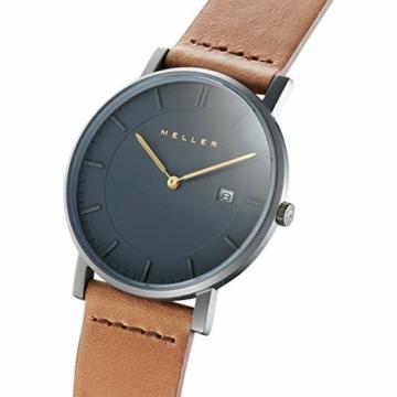Meller Unisex Erwachsene Analog Quarz Uhr mit Leder Armband 1G-1CAMEL - 2