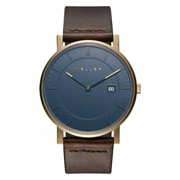 Meller Unisex Erwachsene Analog Quarz Uhr mit Leder Armband 1O-1BROWN - 1