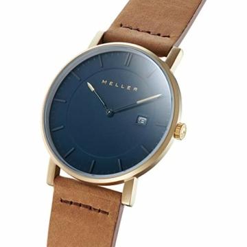 Meller Unisex Erwachsene Analog Quarz Uhr mit Leder Armband 1O-1CAMEL - 2